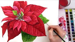 Poinsettia Card How To Paint A Poinsettia Perfect For Your Christmas Card