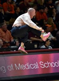 virginia tech coach buzz williams uses pink shoes to unlock anti   ap photo don petersen