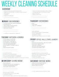 Weekly Household Cleaning Schedule Weekly House Cleaning Schedule How To Create A Natural Cleaning