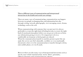 the different types of communication and interpersonal interaction document image preview