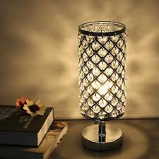 Table lamps modern Small Tomshine Table Lamp Modern Nightstand Lights For Bedroom Crystal Silver Desk Lamp Shades Replacement For Bedside Amazoncom Tomshine Table Lamp Modern Nightstand Lights For Bedroom Crystal