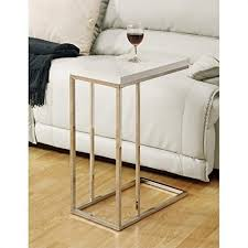 accent table chrome metal