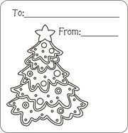 christmas present with tag coloring page. Christmas Gift Tags To Color Free Printable For Kids Throughout Present With Tag Coloring Page