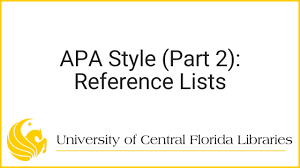 Apa Style For Rosen Students Part 2