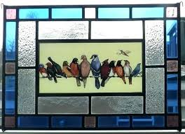 sun catcher stained glass stained glass birds on a wire very beautiful stained glass sun catcher sun catcher stained glass