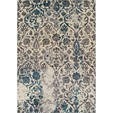 8 x 11 large teal and gray area rug modern grays