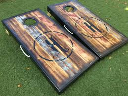 Wooden Corn Hole Game Barnwood Custom Cornhole Board Set West Georgia Cornhole 6