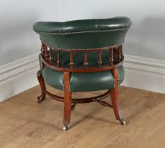 victorian office furniture. Victorian Mahogany Office Green Leather Desk Tub Library Captains Armchair / Chair (circa 1890)   405316 Sellingantiques.co.uk Furniture