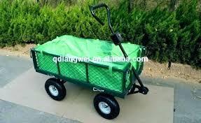 heavy duty mesh metal garden wagon trolley cart cool wheels beautiful