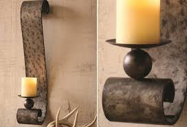 Image of: Candle Sconces For The Wall Metal