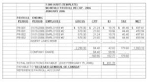 Excel Spreadsheet For Payroll Register Template Example Employee