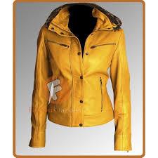 womens yellow motorcycle leather jacket womens leather jackets uk