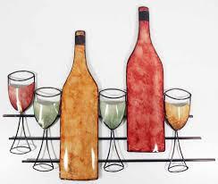 wine bottle metal wall art images