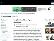 symbolism in ethan frome lesson plans worksheets ethan frome study questions essay topics