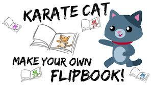 karate cat flip book