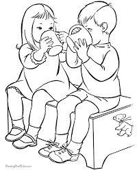 free valentines day coloring book pages