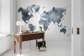home office wall. Home Office With Wall Mural And Understated Beauty [Design: Rebel Walls]