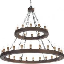 minstrel large meval wooden chandelier with 36 lights