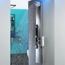 Edelstahl Duschpaneel Von Sanlingo Duschsäule Mit Spiegel Wasserfall Und Regendusche