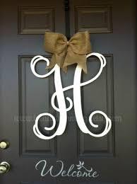 letters for front door44 best Wreaths images on Pinterest  San antonio spurs Wreath