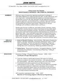 Mechanical Engineer Resume Sample Mechanical Engineer Resume