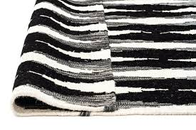 black and white flat weave rug black white hand woven rug black and white striped flat weave rug