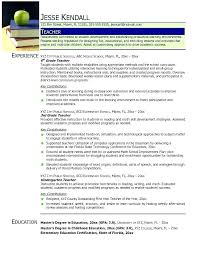 Montessori Teacher Resume Teacher Resume Preschool Teacher Resume ...