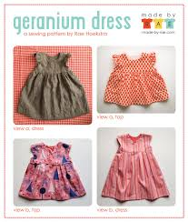 Free Baby Dress Patterns Custom Geranium Dress Sewing Pattern Is Here Made By Rae