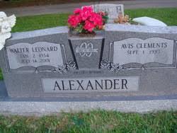 Avis Clements Alexander (1935-Unknown) - Find A Grave Memorial