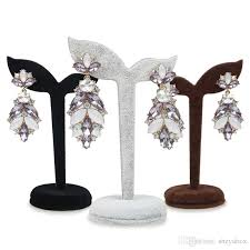 Earring Stands And Displays Inspiration Velvet Earring Display Stand Jewelry Displays Holder Stud Piercing
