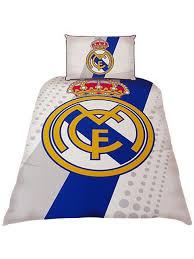 real madrid cf stripe single duvet cover bedding set