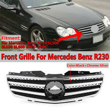 This car was babied from second it left the show room. Chrome Silver Car Front Bumper Grille Grill For Mercedes For Benz Sl Class R230 Sl500 Sl550 Sl600 2003 2004 2005 2006 Racing Grills Aliexpress