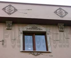 exterior corbels polyurethane. this polyurethane exterior ornaments jambs coating application was performed by using motifs mouldings, corbels