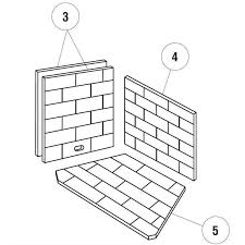 LENNOX U0026CHEMINEES SECURITY WOOD FIREPLACE REFRACTORY BACK LINER Fireplace Refractory Panels