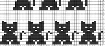 Cat Knitting Chart Cat Knitting Chart Knitting Charts Knitting Stitches