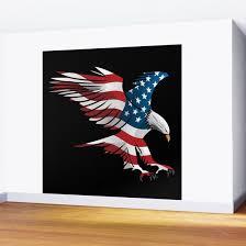 patriotic flying american flag eagle