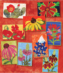 Texas Wildflowers Postcard Quilts Pattern | Wildflowers, Texas and ... & Texas Wildflowers Postcard Quilts Pattern Adamdwight.com