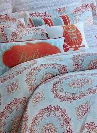 52 best Bedroom images on Pinterest | Duvet cover sets, Queen ... & Cynthia rowley orange medallion full / queen duvet cover set 3pc coral aqua Adamdwight.com