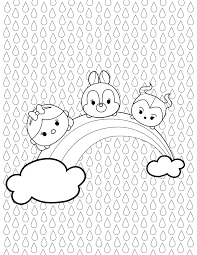 Tsum Tsum Rainbow Coloring Page Disney Games Philippines