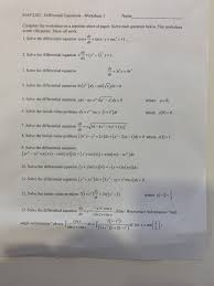 map 2302 diffeial equations