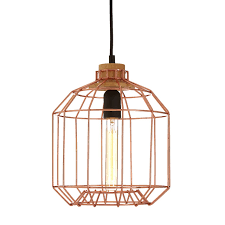 beacan copper metal wire pendant light at barnitts uk barnitts