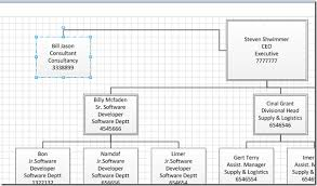 Organizational Chart Excel 2003 Build An Organization Chart In Visio 2010