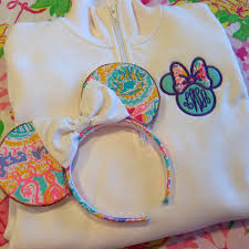 Lilly Pulitzer Fabric Minnie Bow Monogram Pullover With Lilly Pulitzer Fabric From