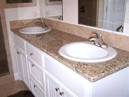 overmount sink on granite bath counter with drop in sinks pertaining to for countertops plans 3