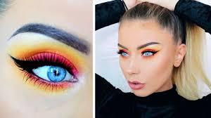 colourful sunset makeup tutorial