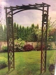 w black metal garden arbor arbors canada wrought iron arbors with gate