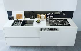integration of handle less kitchen cabinetry