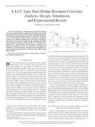 Resonant Converter Design Pdf A Llc Type Dual Bridge Resonant Converter Analysis