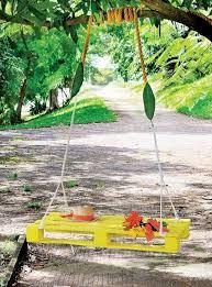 diy outdoor garden furniture ideas. garden furniture ideas creative diy yellow swing pallet bed outdoor