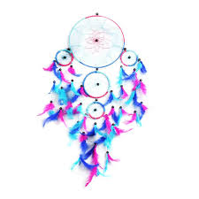Colored Dream Catchers Interesting Vintage Colorful Dreamcatcher Wind Chimes Indian Style Feather